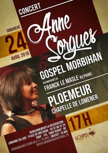 Concert Anne Sorgues Gospel Morbihan 24 avril 2016 Ploemeur