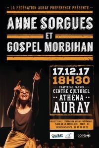 Concert Gospel Morbihan Anne Sorgues AURAY 17 decembre 2017
